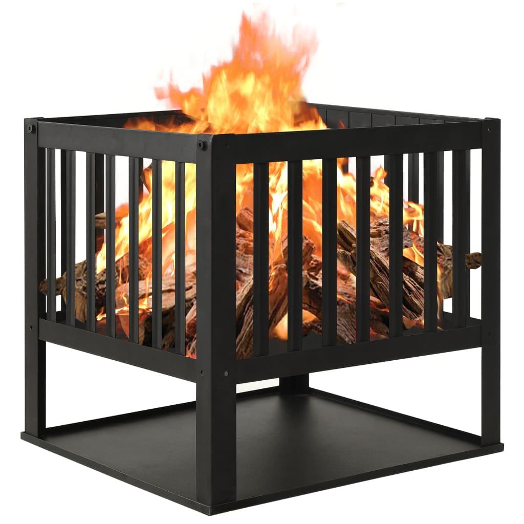 vidaXL Vatră de foc, 40x40x40 cm, oțel