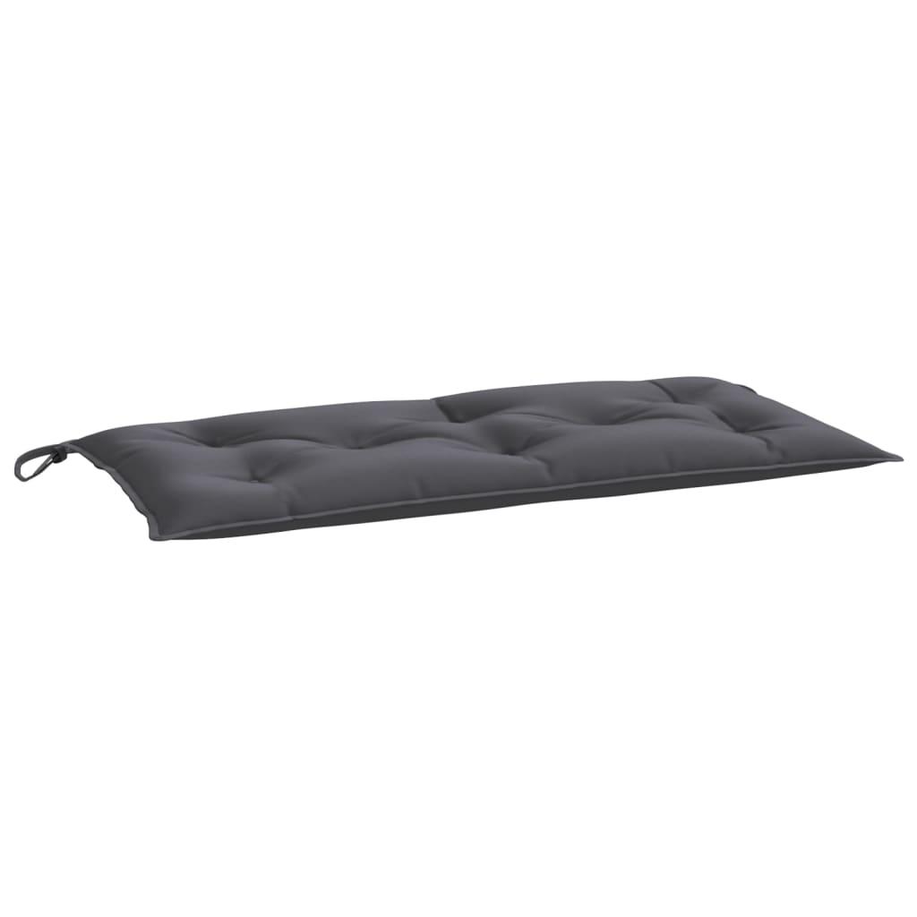 Poduška na zahradní lavici antracitová 100 x 50 x 7 cm textil