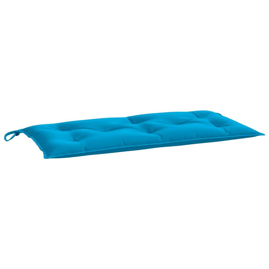 Poduška na zahradní lavici světle modrá 100 x 50 x 7 cm textil