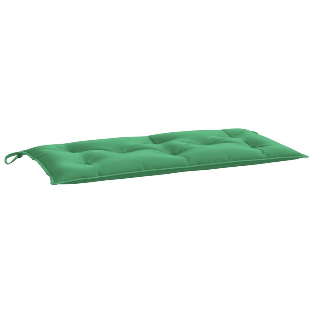 Poduška na zahradní lavici zelená 100 x 50 x 7 cm textil