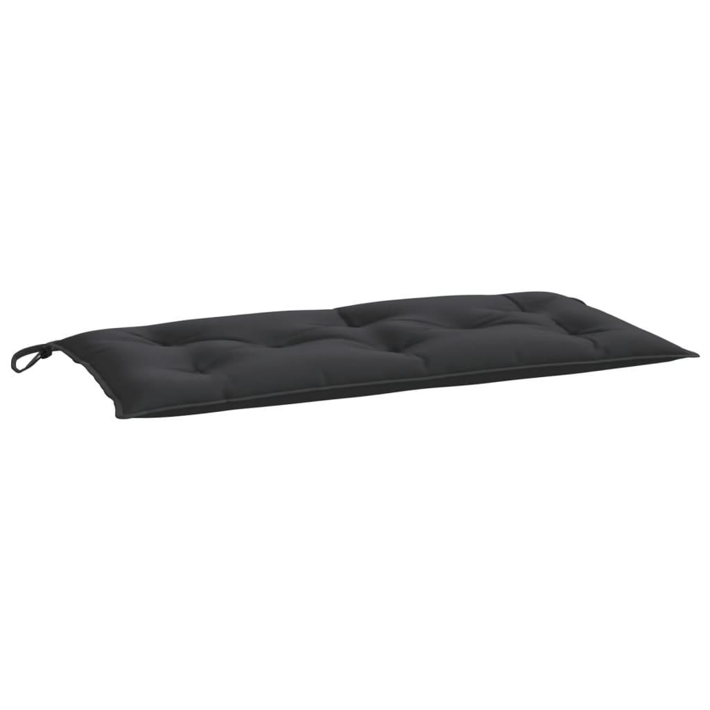 Poduška na zahradní lavici černá 100 x 50 x 7 cm textil