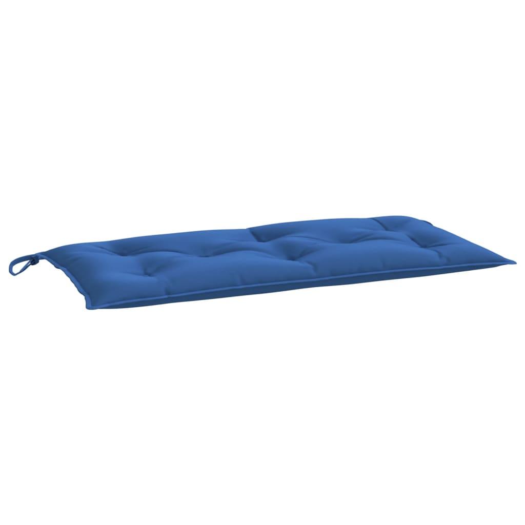Poduška na zahradní lavici modrá 100 x 50 x 7 cm textil