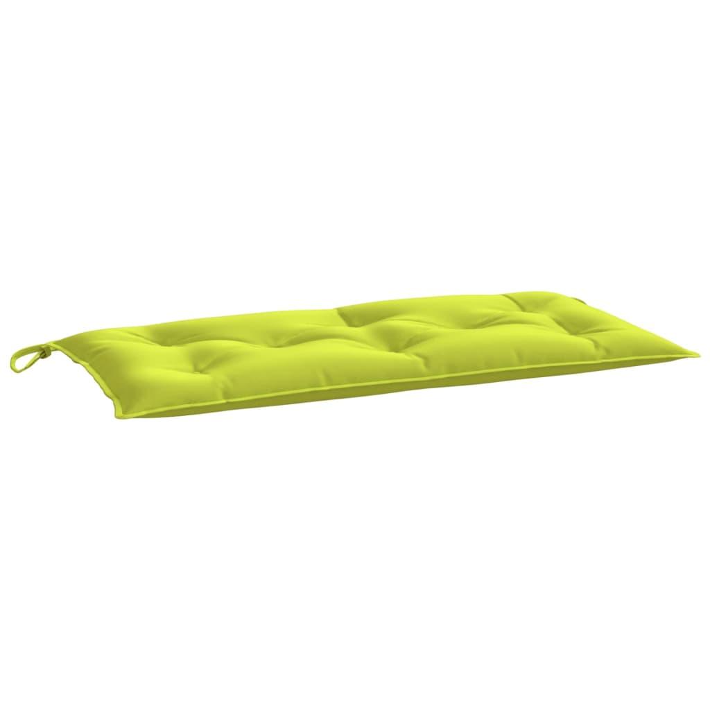 Poduška na zahradní lavici jasně zelená 100 x 50 x 7 cm textil
