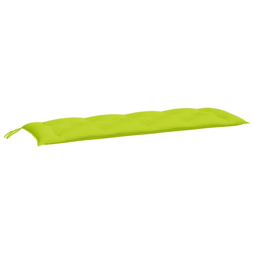vidaXL Pernă pentru bancă de grădină, verde aprins, 150x50x7 cm textil imagine vidaxl.ro