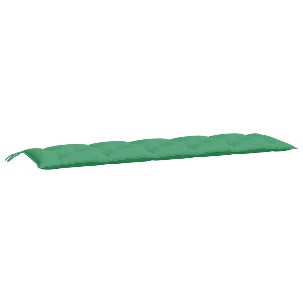 vidaXL Pernă pentru bancă de grădină, verde, 180x50x7 cm, textil vidaxl.ro