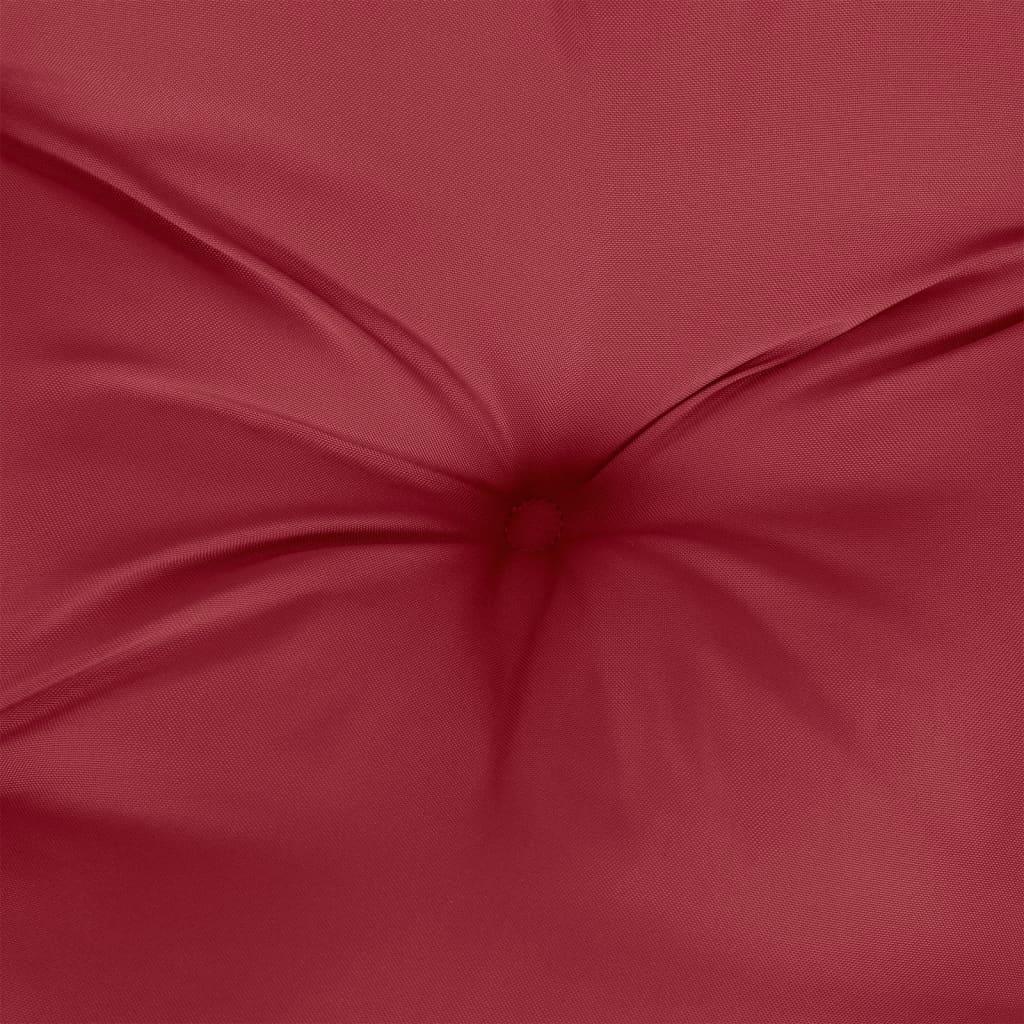 vidaXL Kussen voor schommelstoel 100 cm stof wijnrood