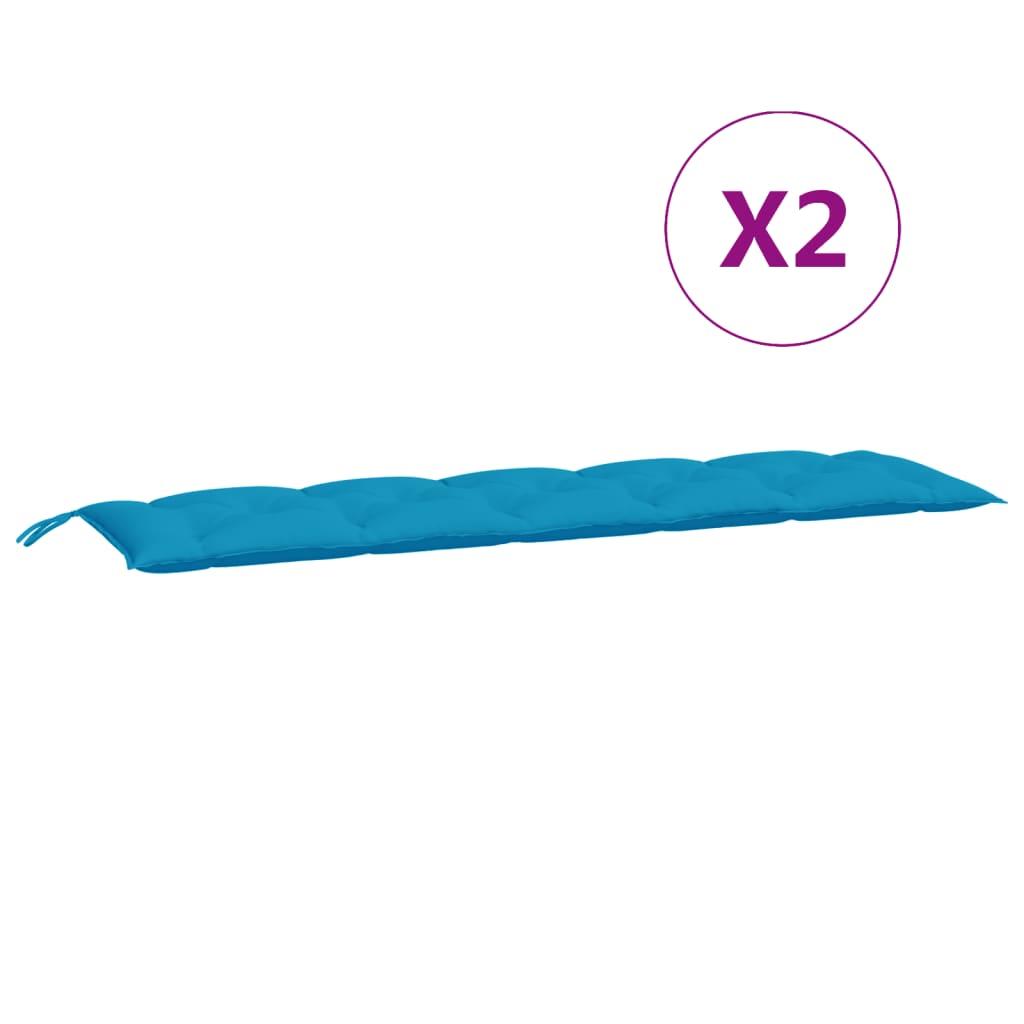 Kussen voor schommelstoel 180 cm stof lichtblauw