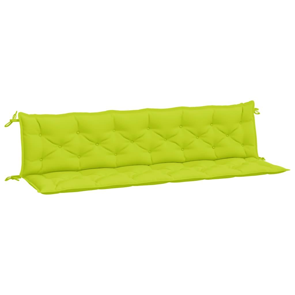 vidaXL Kussen voor schommelstoel 200 cm stof heldergroen