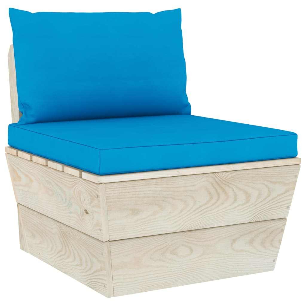 vidaXL Perne canapea din paleți, 2 buc., albastru deschis, textil poza 2021 vidaXL