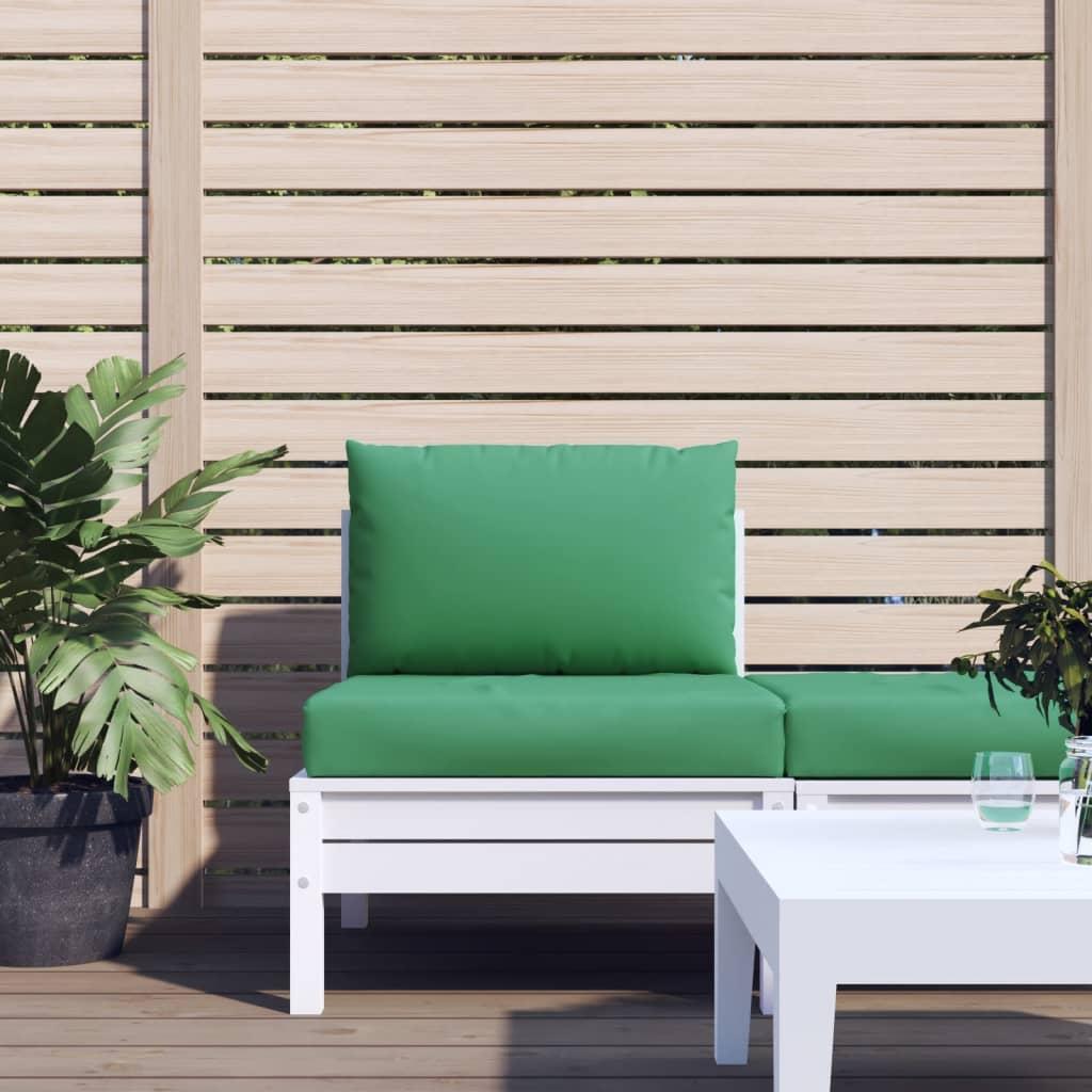 vidaXL Perne pentru canapea din paleți, 2 buc., verde, textil poza 2021 vidaXL