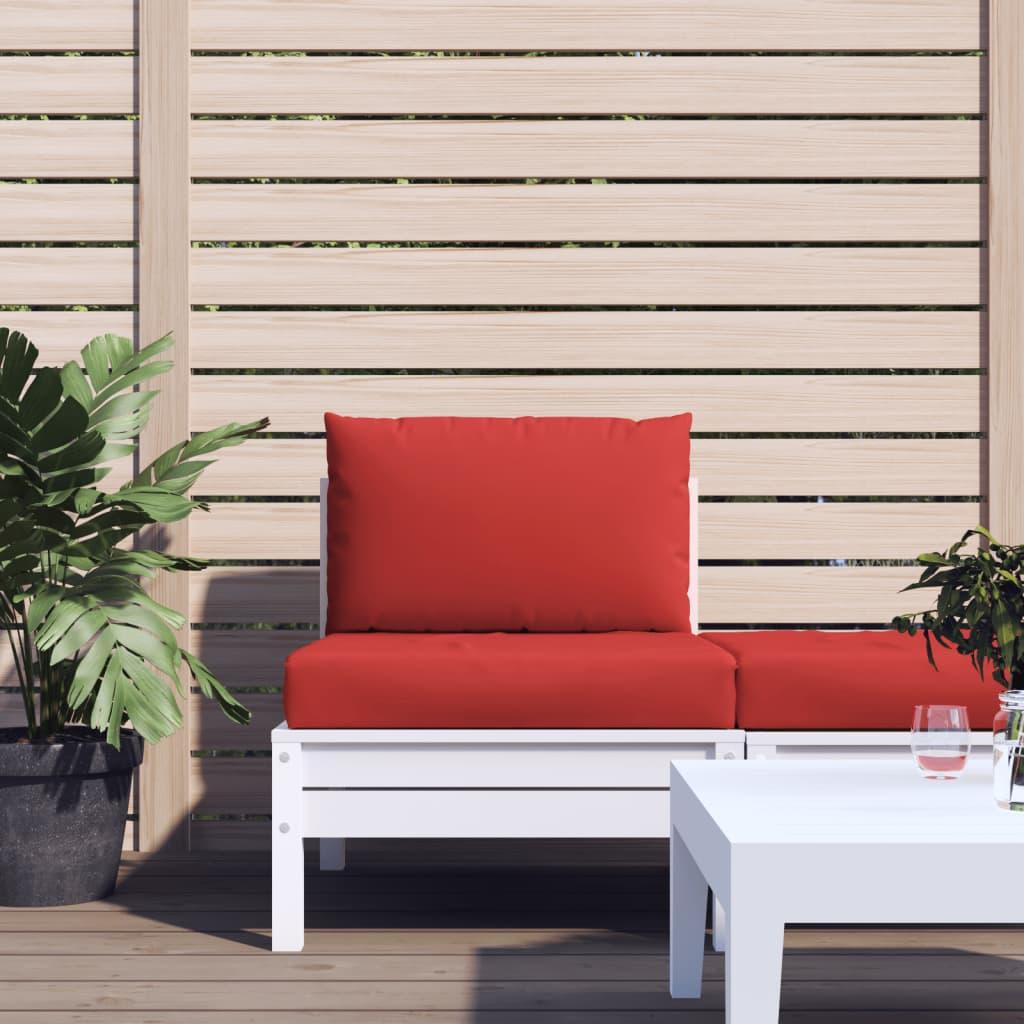 vidaXL Perne pentru canapea din paleți, 2 buc., roșu, textil imagine vidaxl.ro