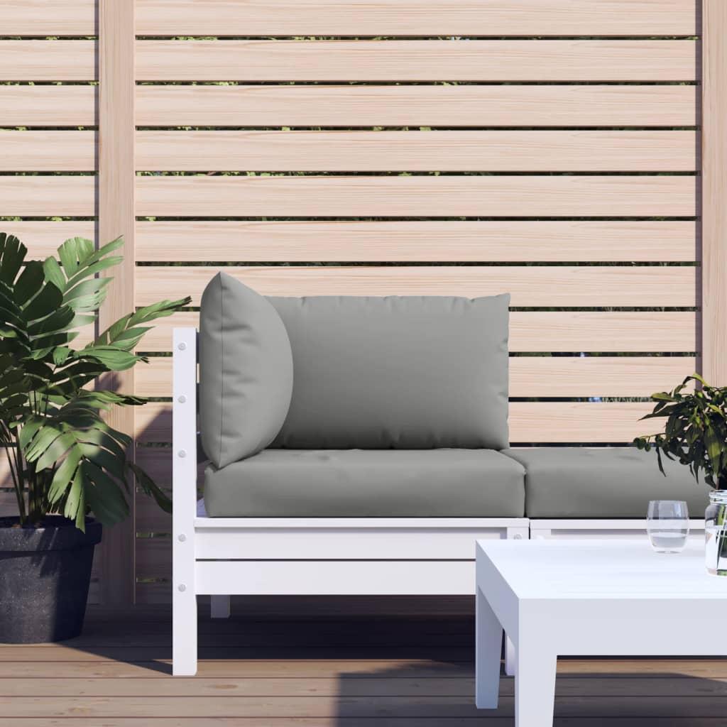 vidaXL Perne pentru canapea din paleți, 3 buc., gri, material textil poza 2021 vidaXL