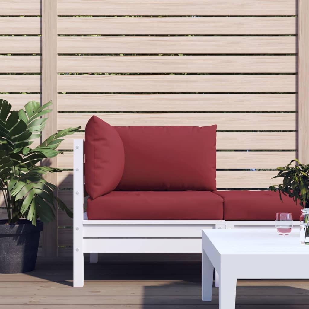 vidaXL Perne pentru canapea din paleți, 3 buc., roșu vin, textil vidaxl.ro