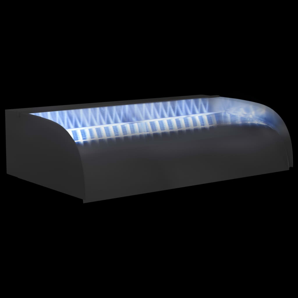Waterval met LED's 60x34x14 cm roestvrij staal 304