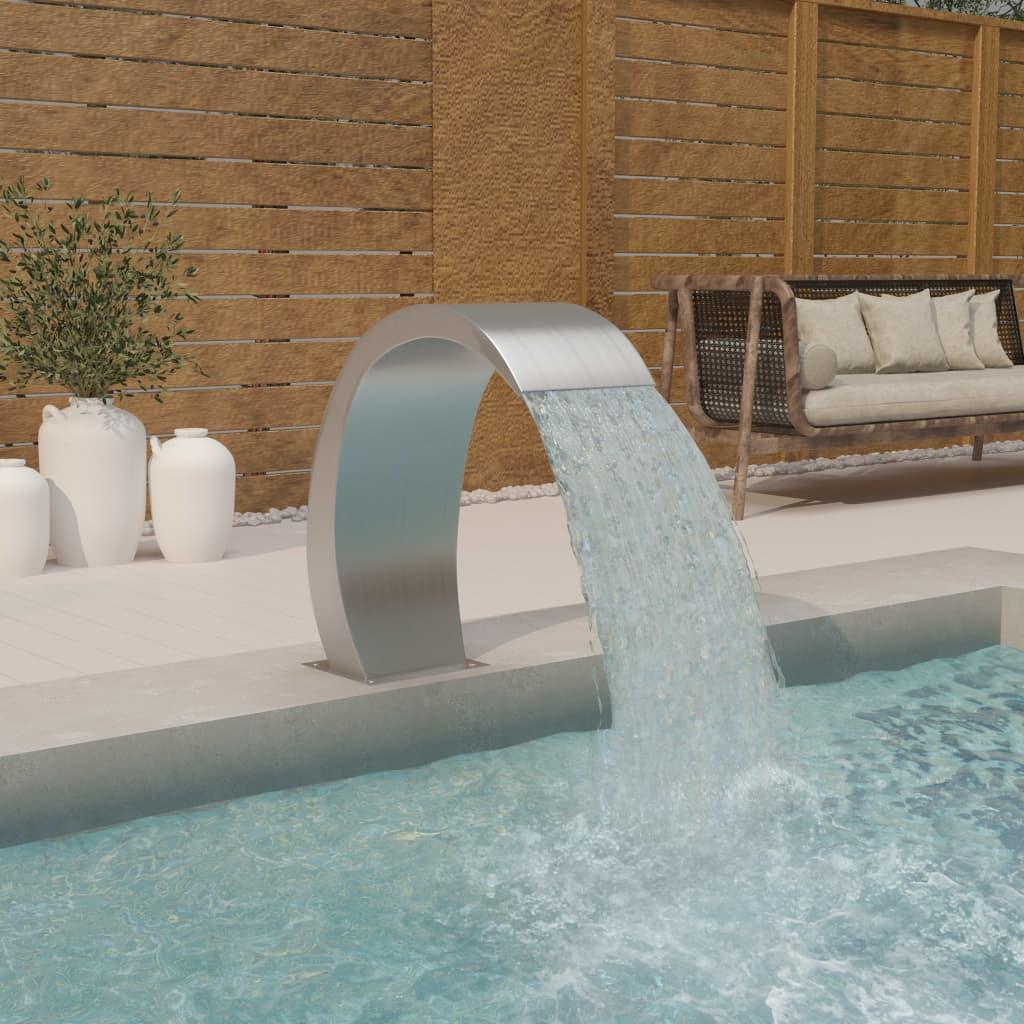Bazénová fontána 30 x 60 x 70 cm nerezová ocel 304