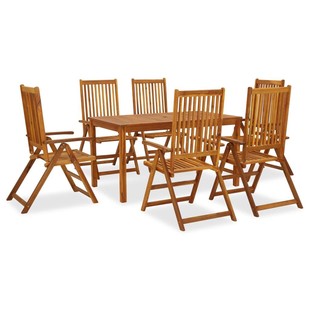 vidaXL Set mobilier de grădină, 7 piese, lemn masiv de acacia vidaxl.ro