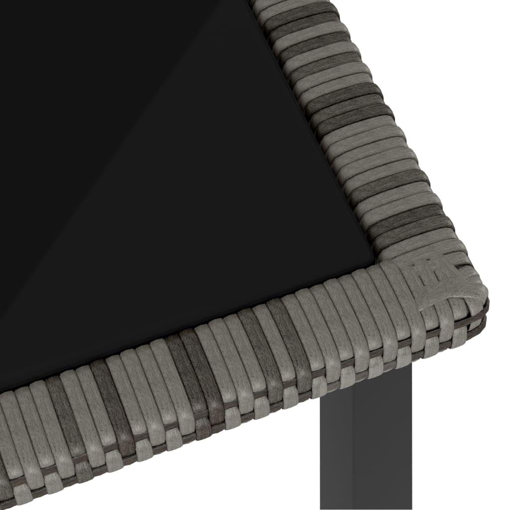 Tuintafel 140x70x73 cm poly rattan grijs
