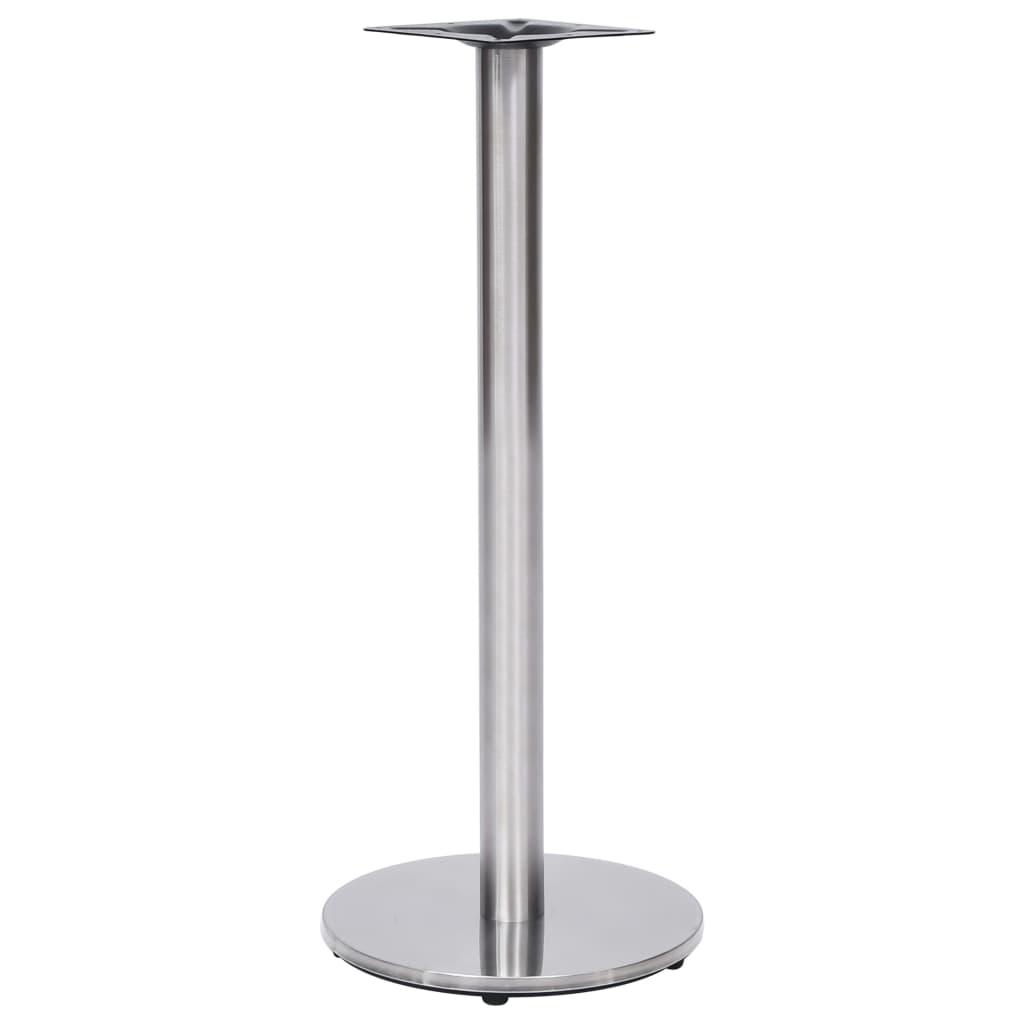 vidaXL Noga za bistro stol srebrna Ø 45 x 107 cm od nehrđajućeg čelika