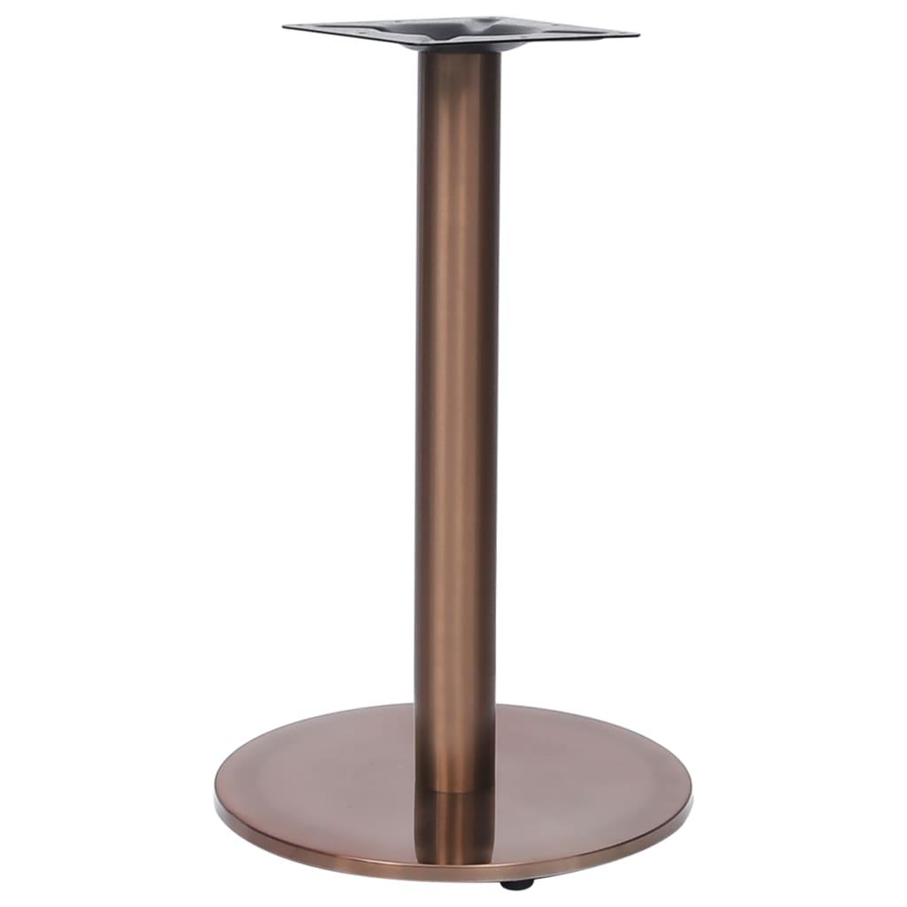 vidaXL Bistrotafelpoot Ø45x72 cm roestvrij staal goudkleurig