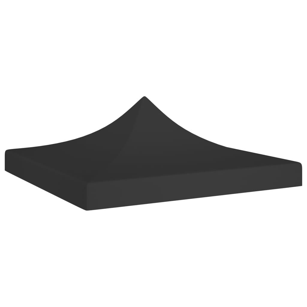 Střecha k party stanu 3 x 3 m černá 270 g/m²