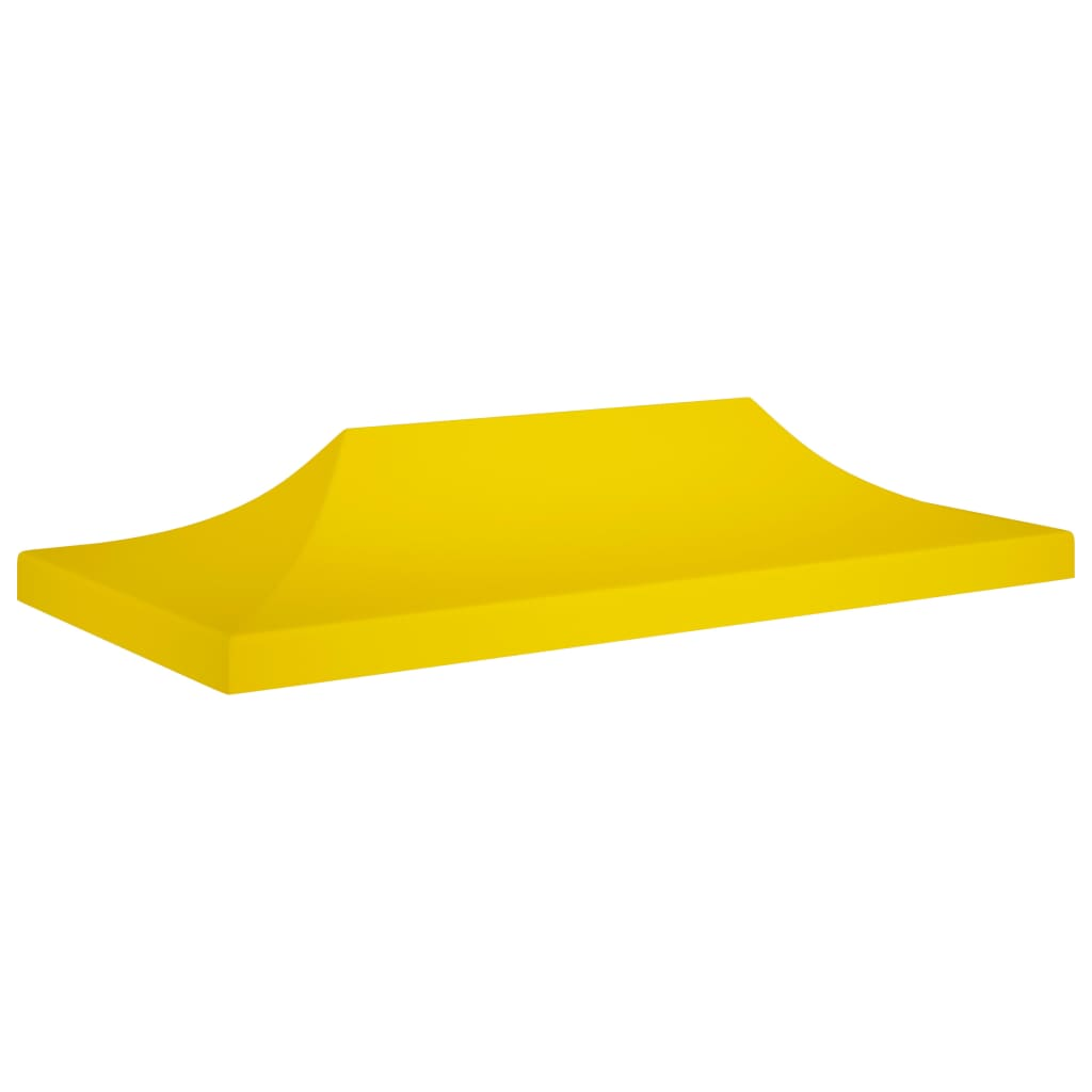 vidaXL Acoperiș pentru cort de petrecere, galben, 6 x 3 m, 270 g/m² poza 2021 vidaXL
