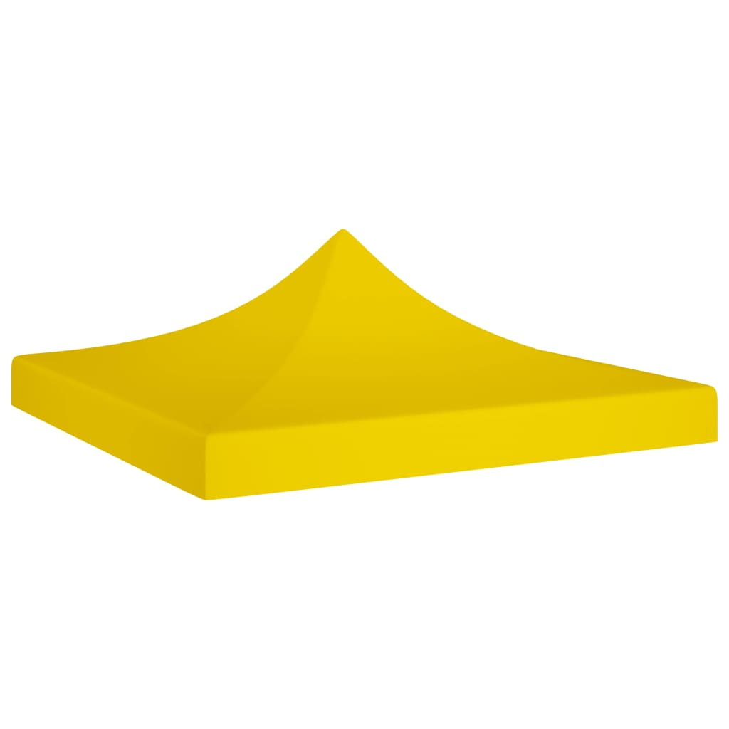 vidaXL Acoperiș pentru cort de petrecere, galben, 2 x 2 m, 270 g/m² imagine vidaxl.ro