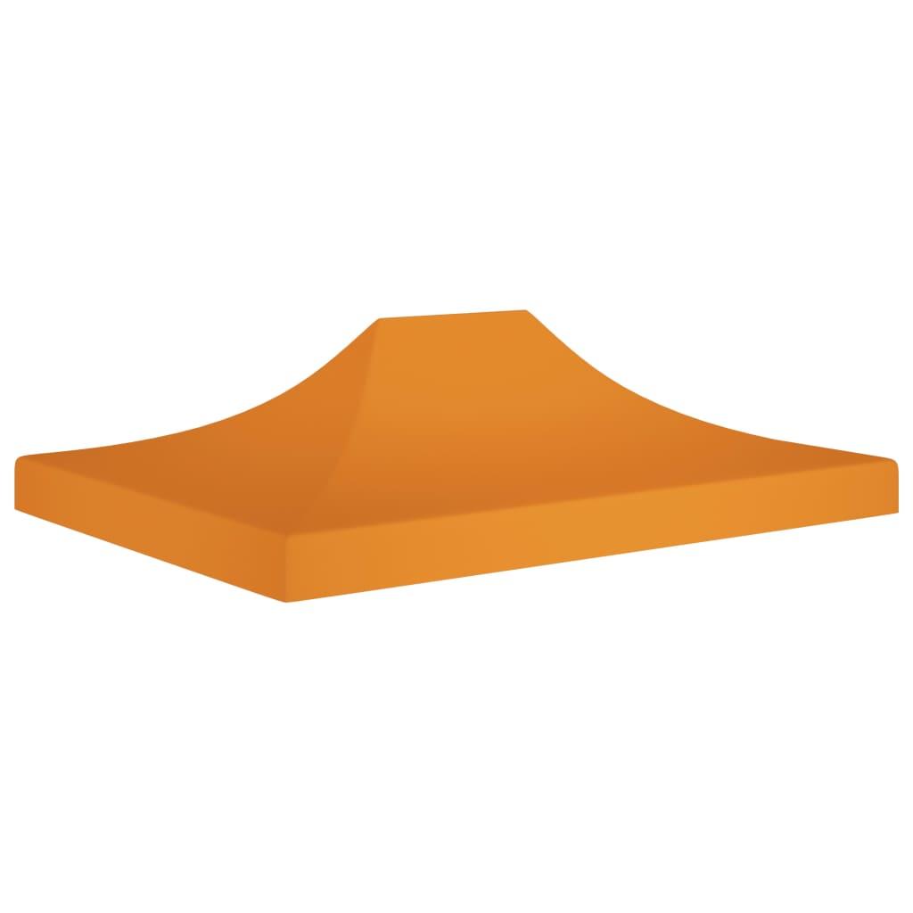 vidaXL Acoperiș pentru cort de petrecere, portocaliu 4 x 3 m, 270 g/m² imagine vidaxl.ro