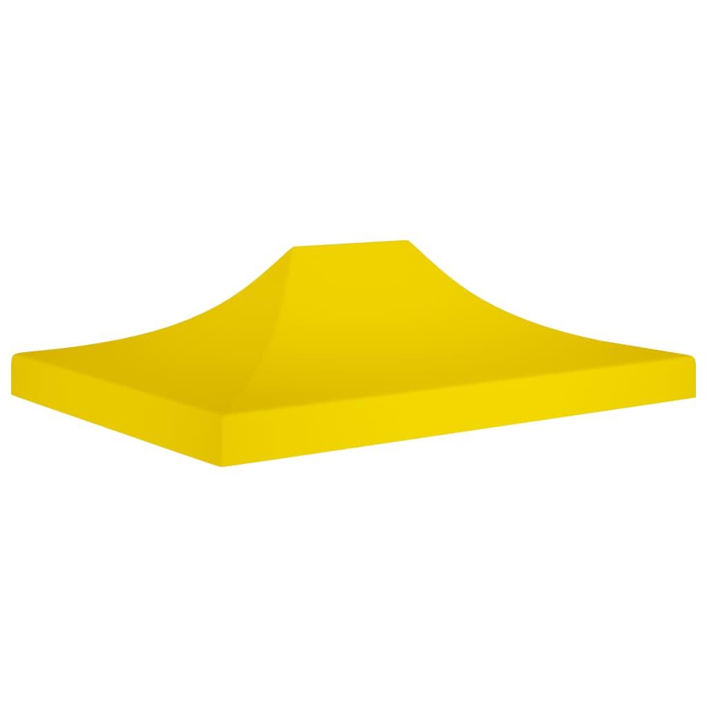vidaXL Acoperiș pentru cort de petrecere, galben, 4 x 3 m, 270 g/m² poza 2021 vidaXL