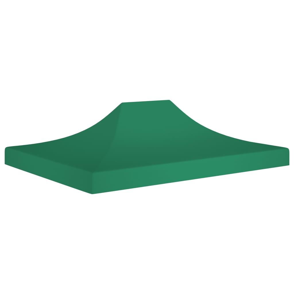 vidaXL Acoperiș pentru cort de petrecere, verde, 4,5 x 3 m, 270 g/m² poza 2021 vidaXL