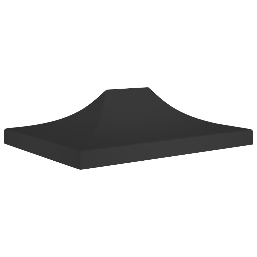 vidaXL Acoperiș pentru cort de petrecere, negru, 4,5 x 3 m, 270 g/m² vidaxl.ro