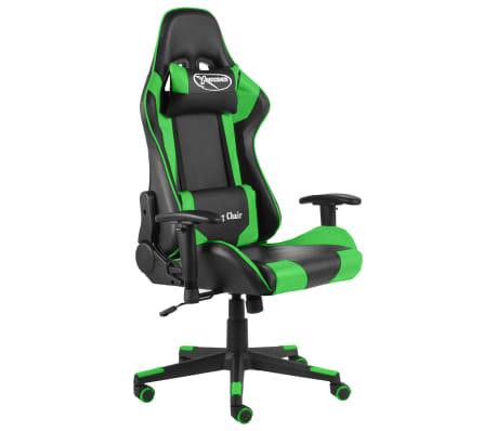 vidaXL Gaming-Stuhl Drehbar Grün PVC