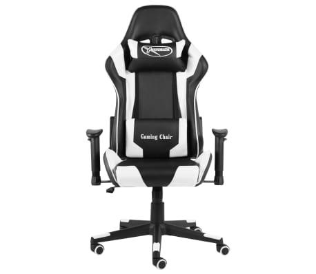 vidaXL Gaming-Stuhl Drehbar Weiß PVC