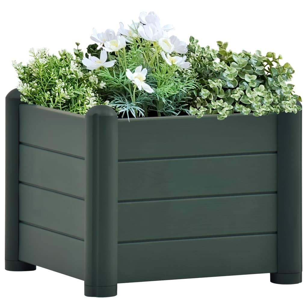 vidaXL Plantenbak verhoogd 43x43x35 cm PP groen