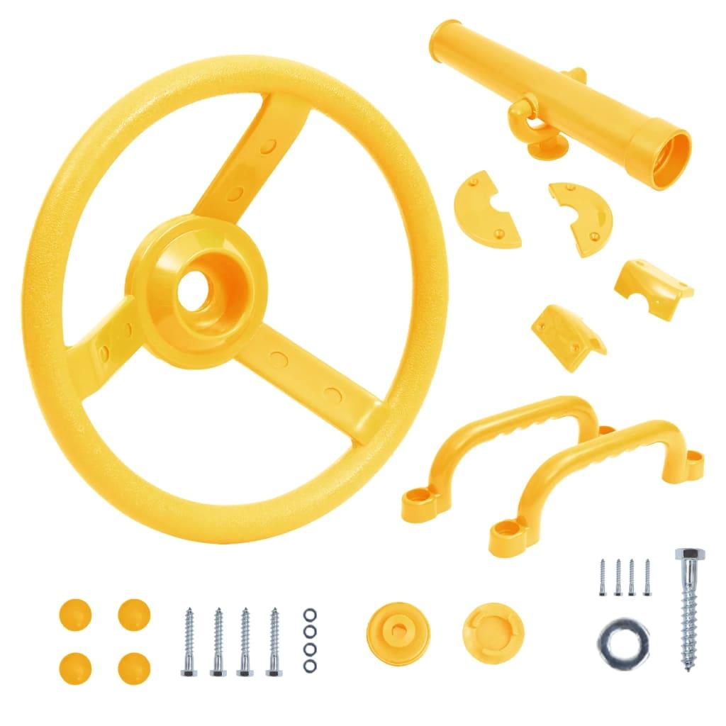 vidaXL Sada příslušenství pro dětská hřiště žlutá