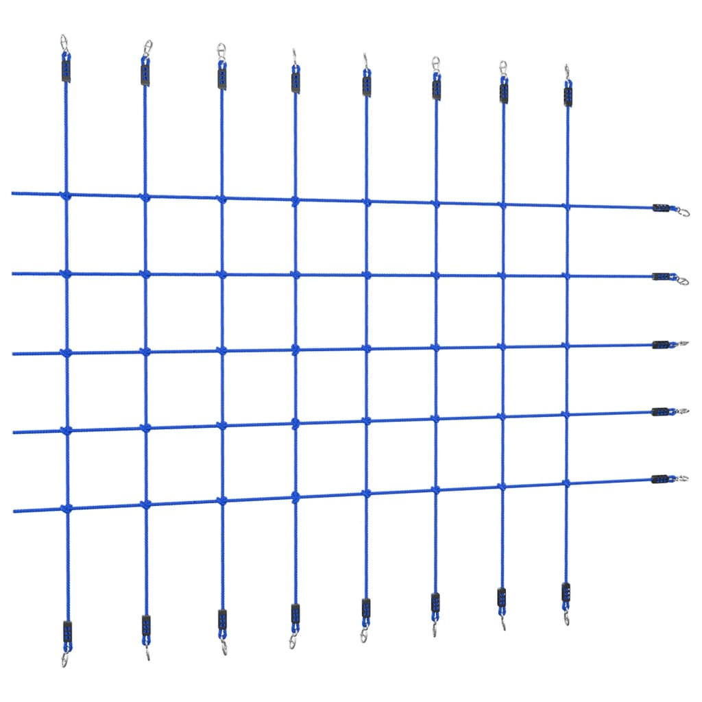 vidaXL Síť na šplhání 200 x 150 cm modrá