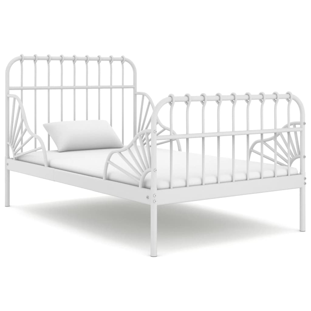 Produživi okvir za krevet bijeli metalni 80 x 130/200 cm