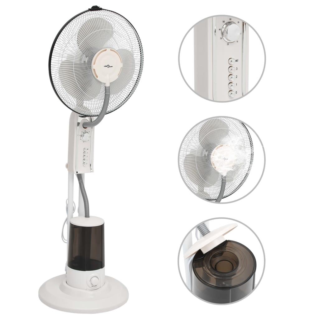 Stojanový mlhový ventilátor 3 rychlosti foukání bílý