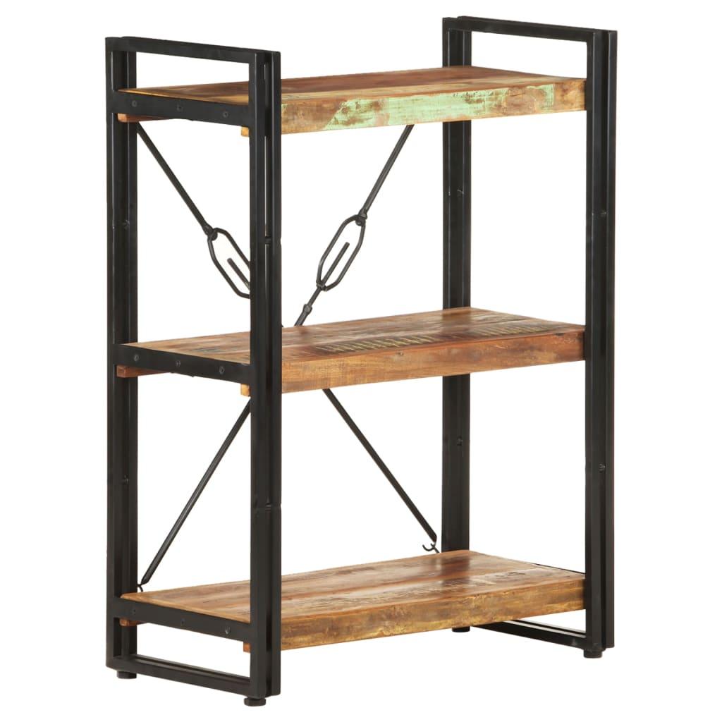 Boekenkast met 3 schappen 60x30x80 cm massief gerecycled hout