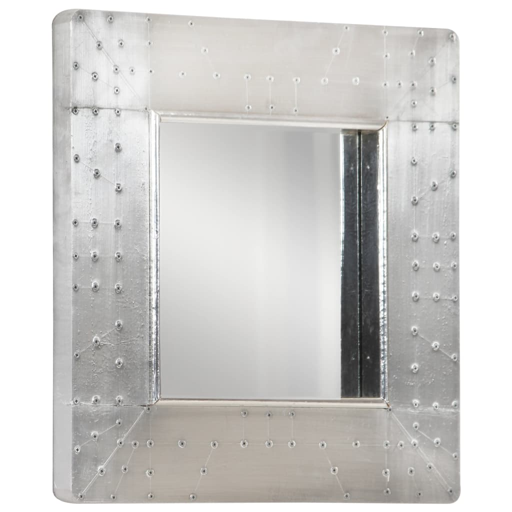 Spiegel luchtvaartstijl 50x50 cm metaal