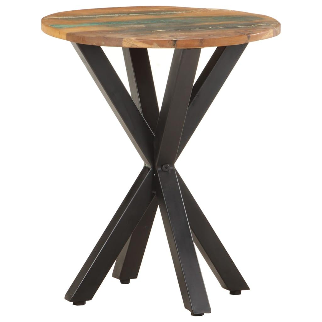 vidaXL Bočni stolić 48 x 48 x 56 cm od masivnog obnovljenog drva