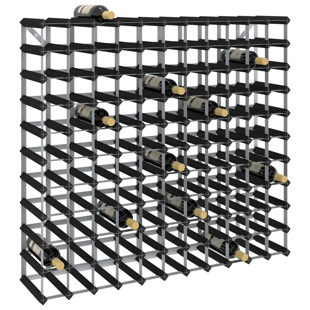 vidaXL Suport de vinuri, 120 sticle, negru, lemn masiv de pin vidaxl.ro