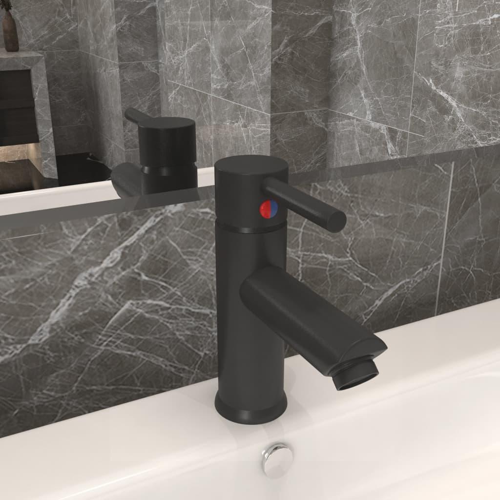 Koupelnová umyvadlová vodovodní baterie šedá 130 x 176 mm