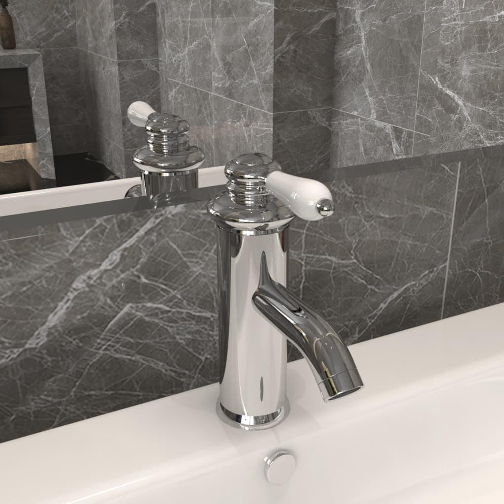Koupelnová umyvadlová vodovodní baterie pochromovaná 130x180 mm