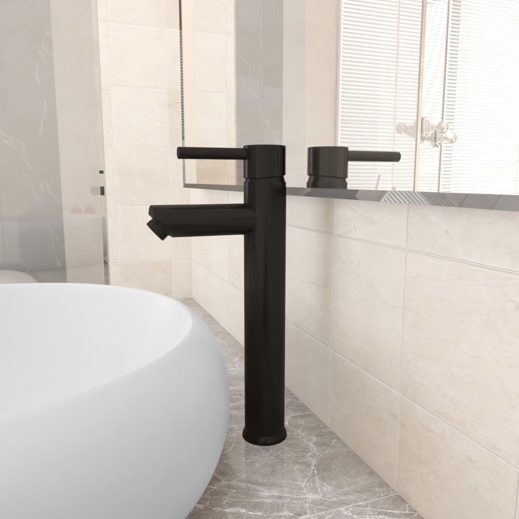 Koupelnová směšovací baterie černá 12 x 30 cm