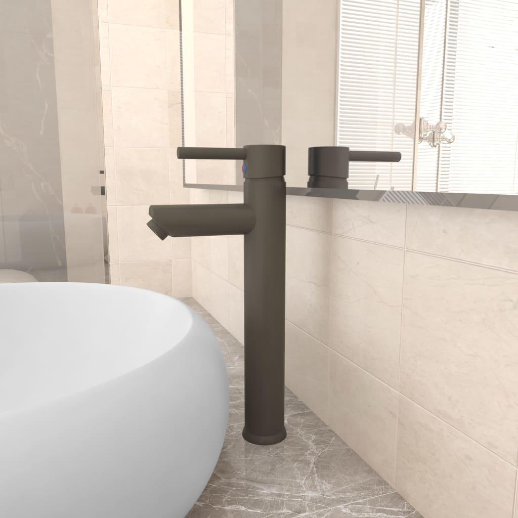 Koupelnová směšovací baterie šedá 12 x 30 cm