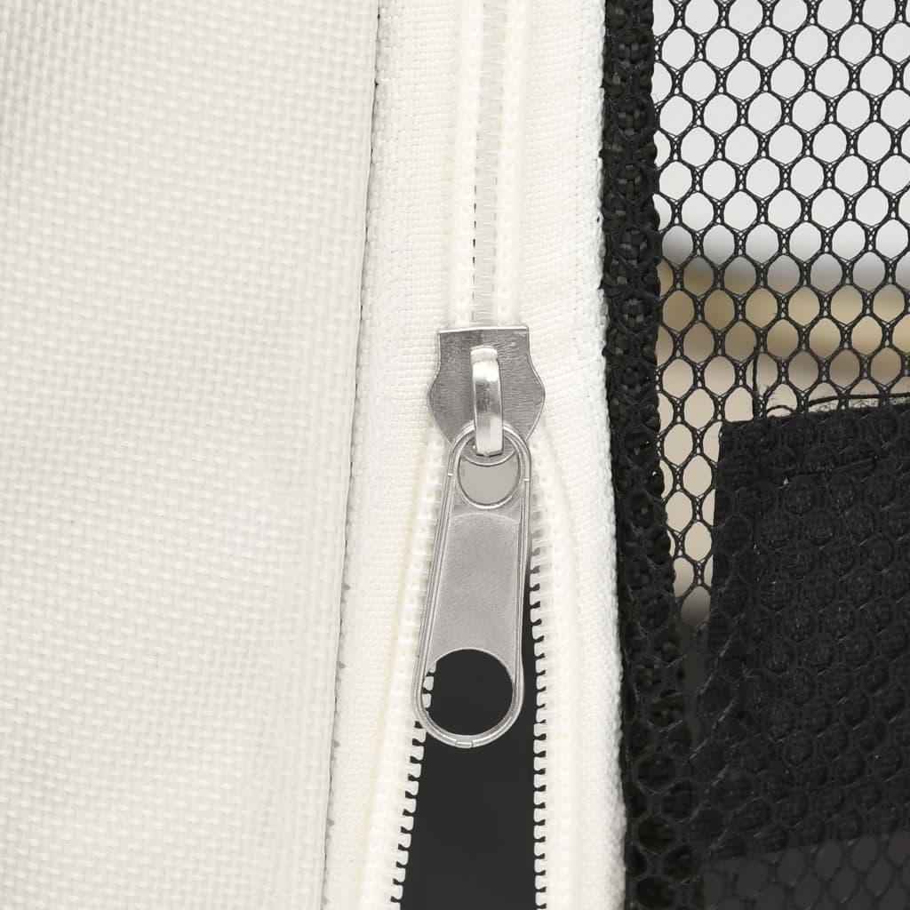 vidaXL Hondenren inklapbaar met draagtas 90x90x58 cm blauw