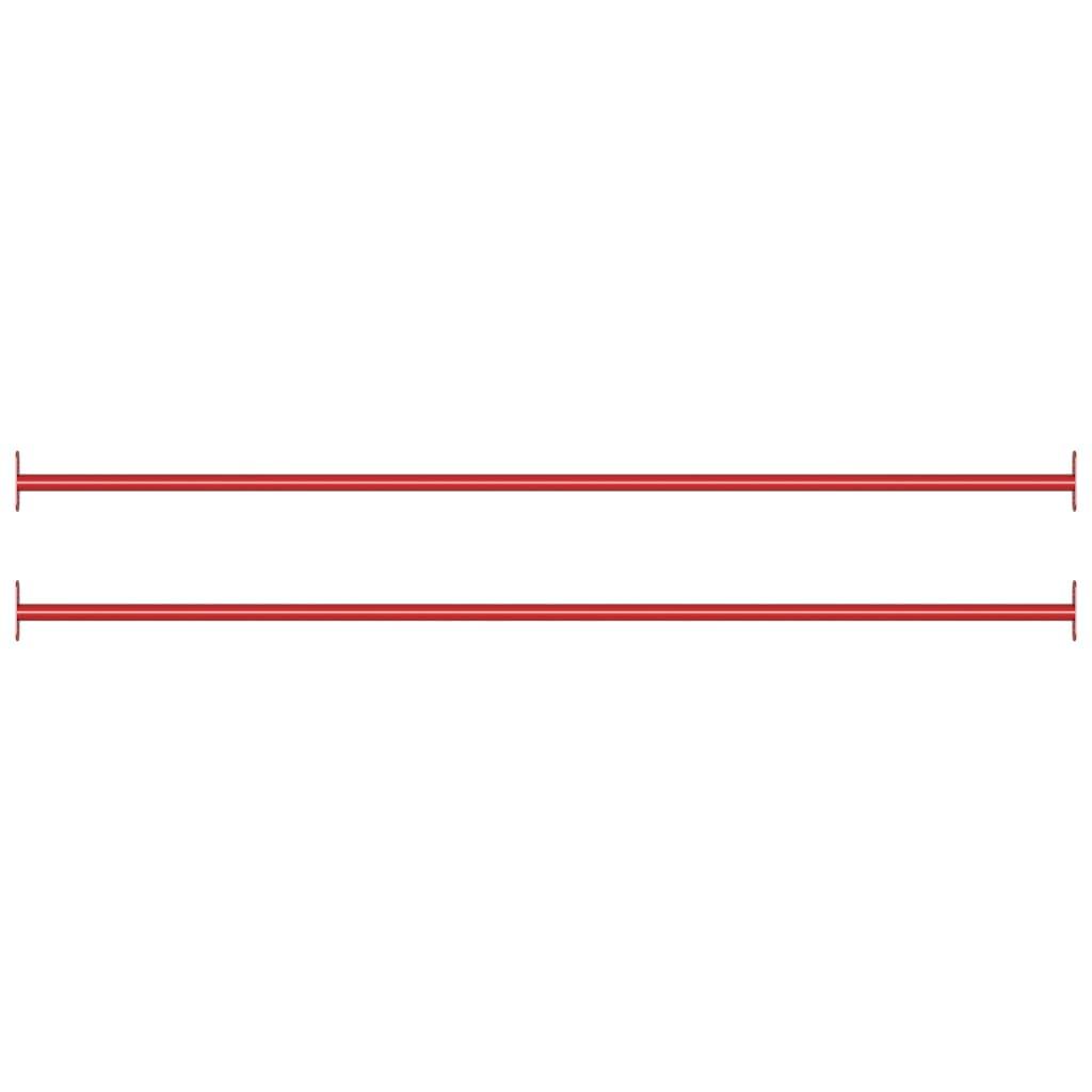 Prečke za prevrtanje 2 kom 125 cm čelične crvene