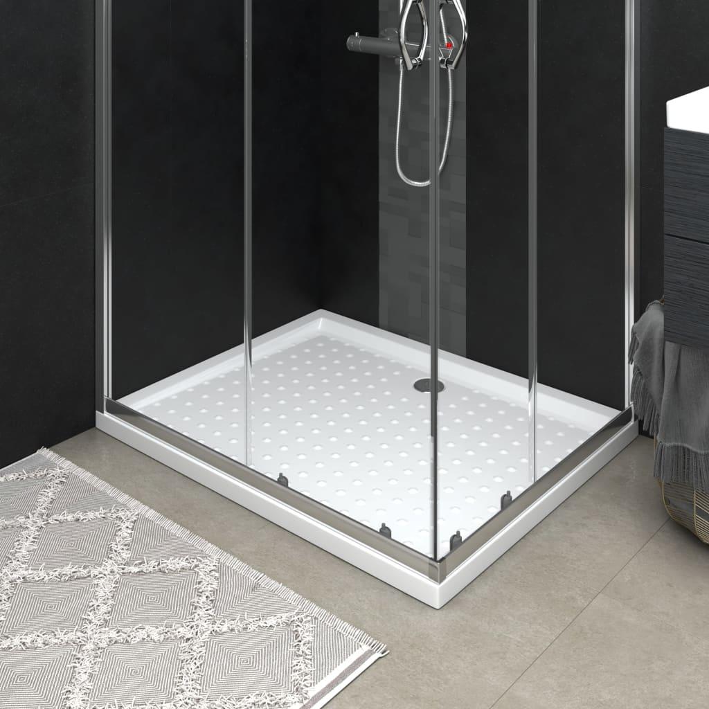 Podloga za tuširanje s točkicama bijela 80 x 100 x 4 cm ABS