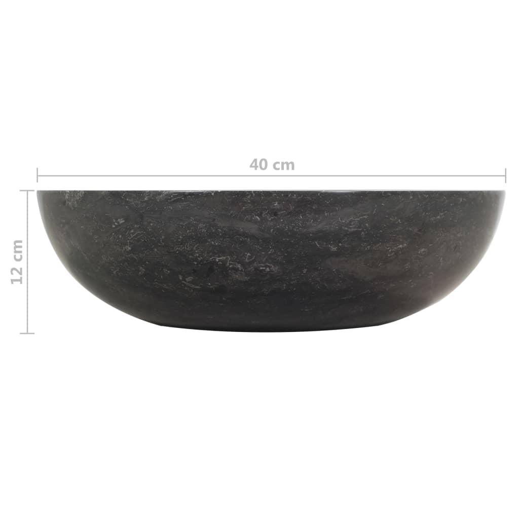 Wastafelkast met marmeren wastafel massief teakhout zwart