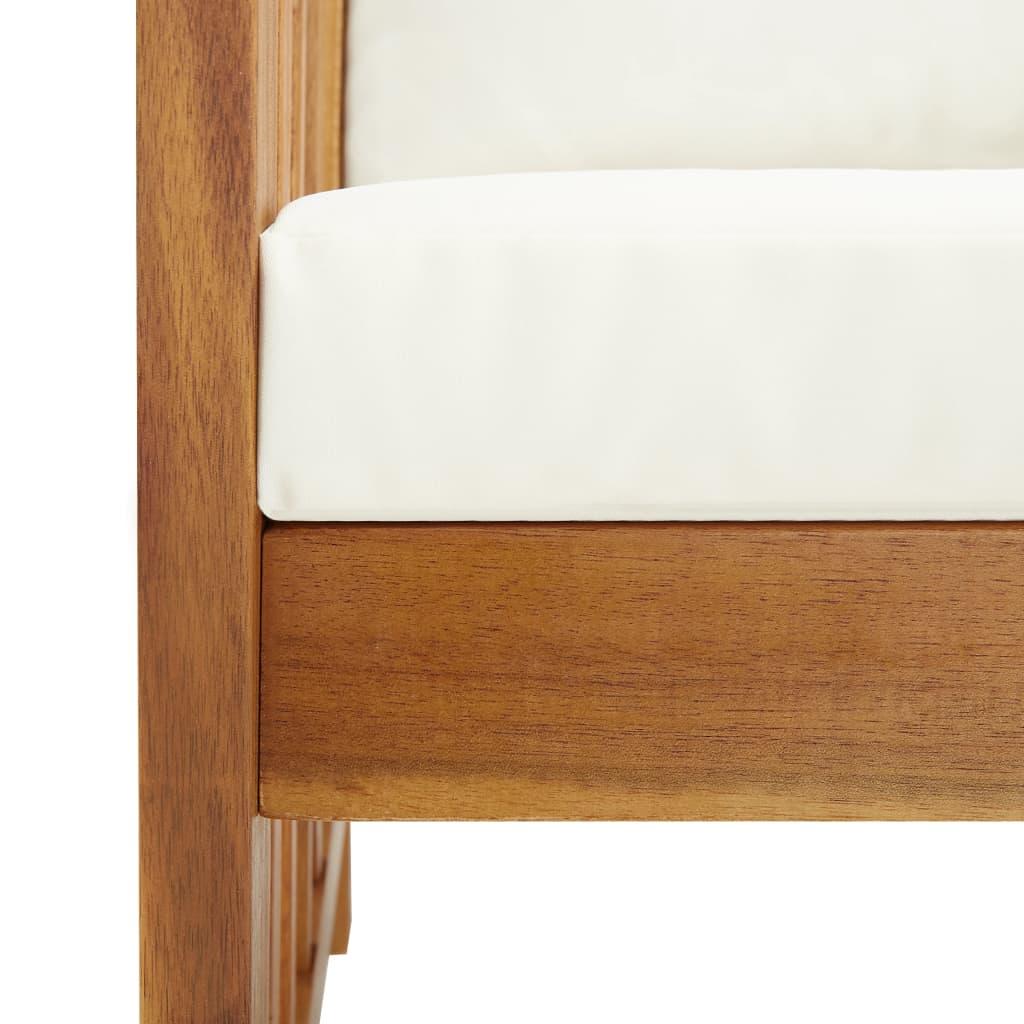 vidaXL 5-delige Loungeset met kussens massief acaciahout